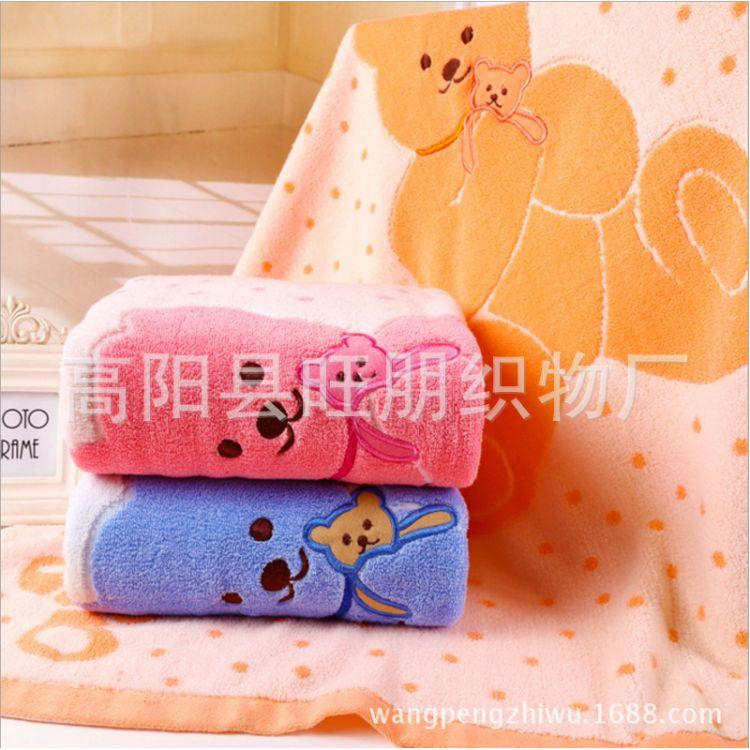厂家直销 纯棉无捻点熊五熊绣花童被 婴幼儿卡通盖被抱被夏凉被