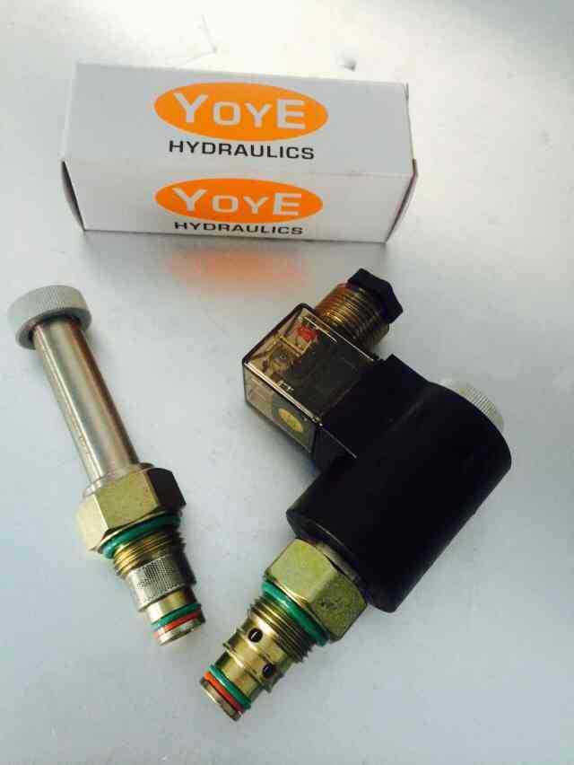 螺纹插装阀 电磁阀 DHF08-220  DHF08-220H 10 12 16电磁阀