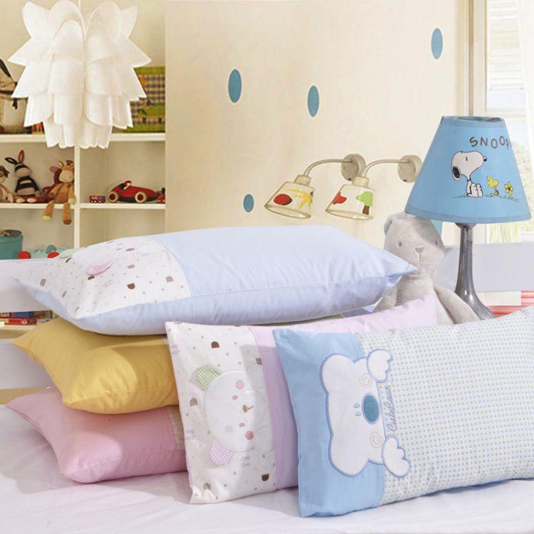 全棉贴布绣花儿童枕幼儿园枕芯30*5040*60纯棉床上用品婴幼儿