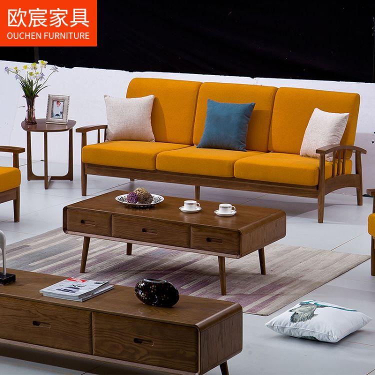 新款布艺沙发 简约现代小户型客厅家具1+2+3客厅家具厂家直销
