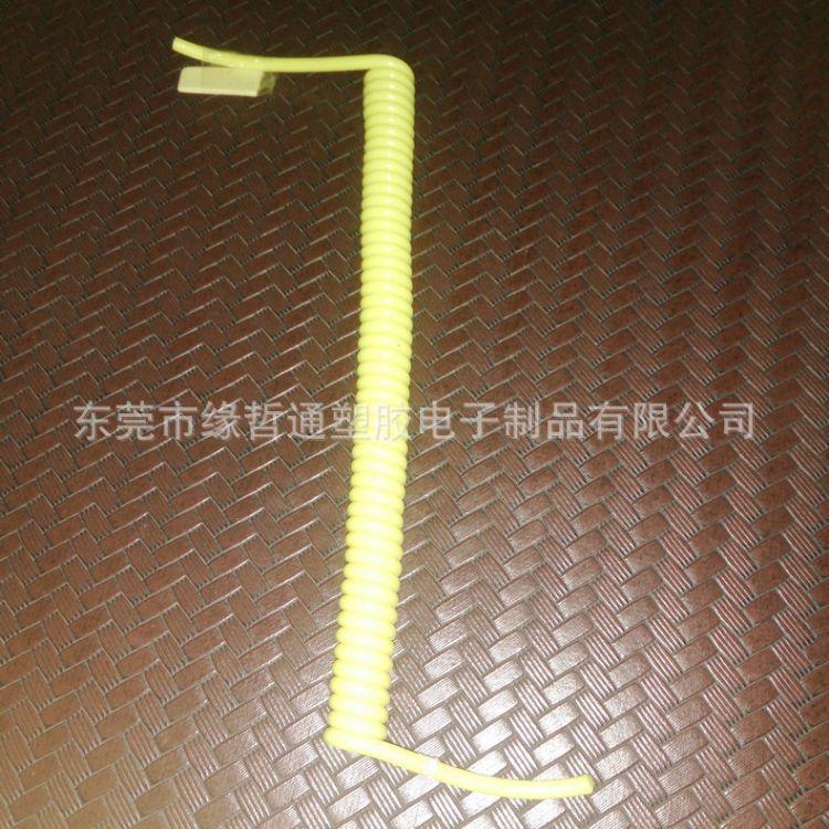 ul弹簧线美标插头弹簧线 耐高温弹簧线 三芯弹簧线螺旋电缆定做