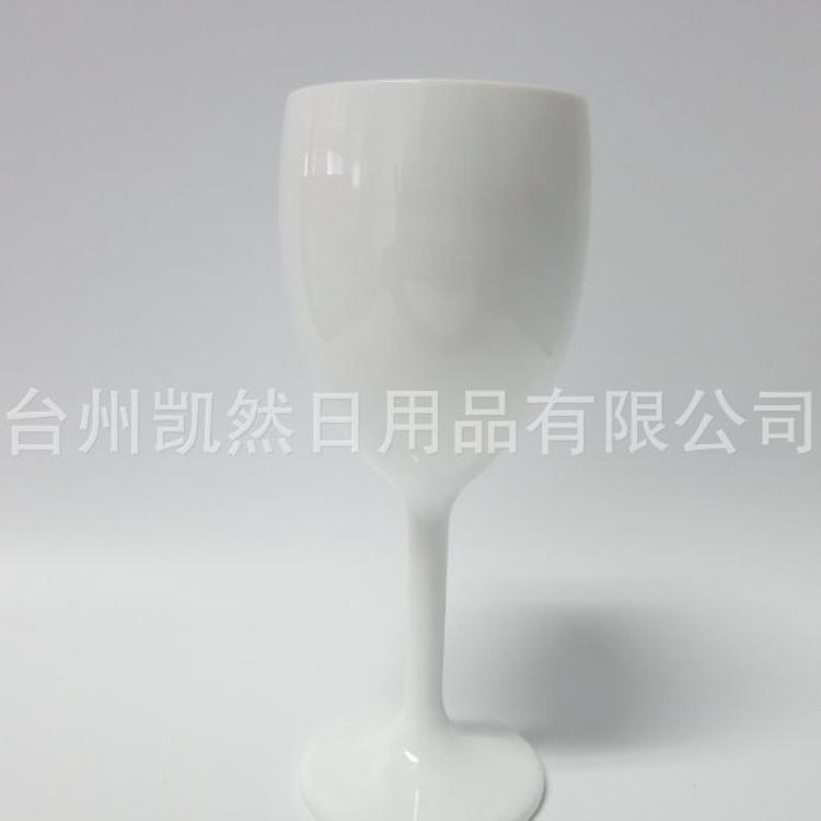 塑料PS300ml红酒杯 塑料高脚杯塑料红酒杯