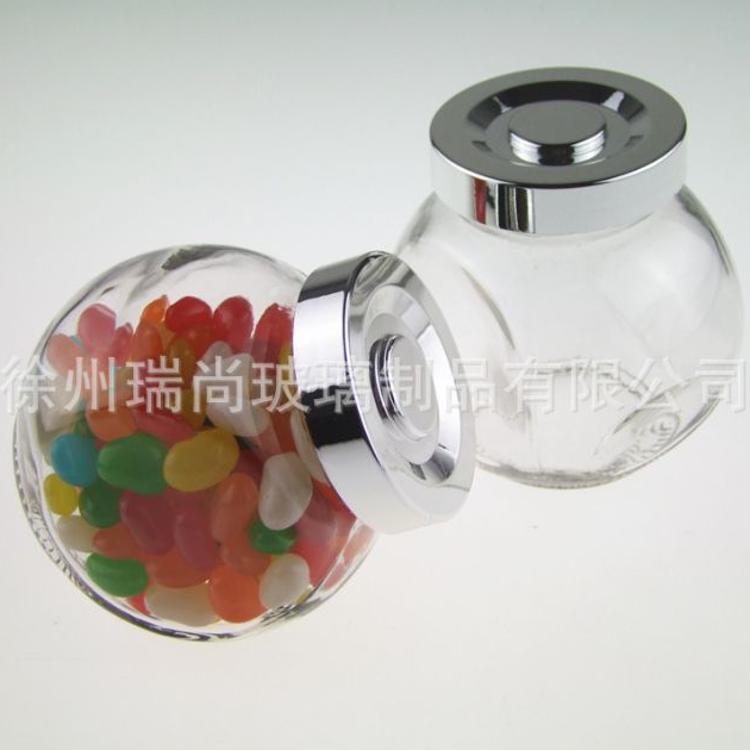 厂家直销玻璃瓶扁鼓玻璃瓶185ml蜂蜜瓶茶叶瓶咖啡瓶
