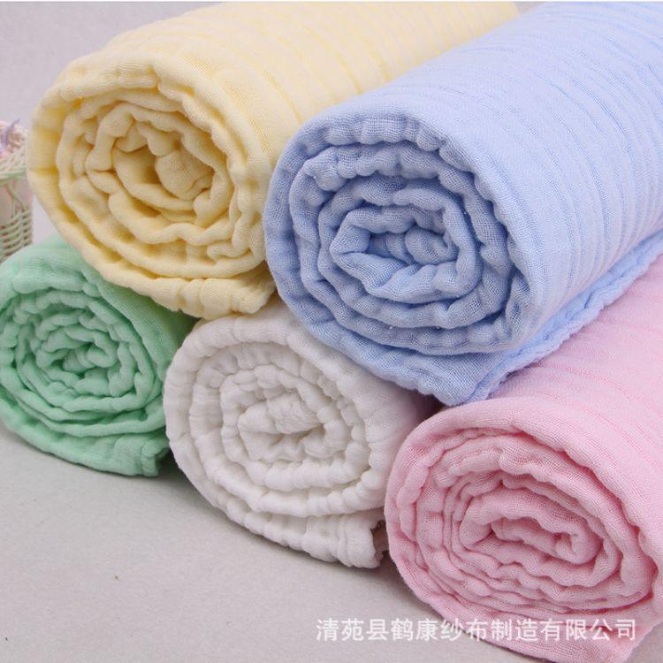 厂家现货批发六层纱布新生儿抱被水洗浴巾纯棉婴儿浴巾105*105