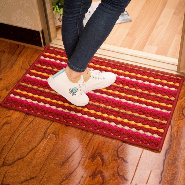 批发炫彩地垫 卧室门垫防滑绒面客厅卫生间浴室淋浴吸水脚垫地毯