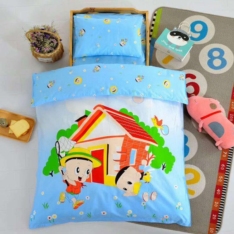 新款纯棉幼儿园儿童大版卡通棉被被子三六件套婴幼儿被褥床品套件