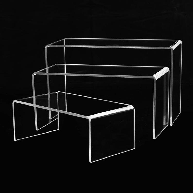 定制亚克力展示架 U型亚克力折弯展架 透明有机玻璃板热弯加工
