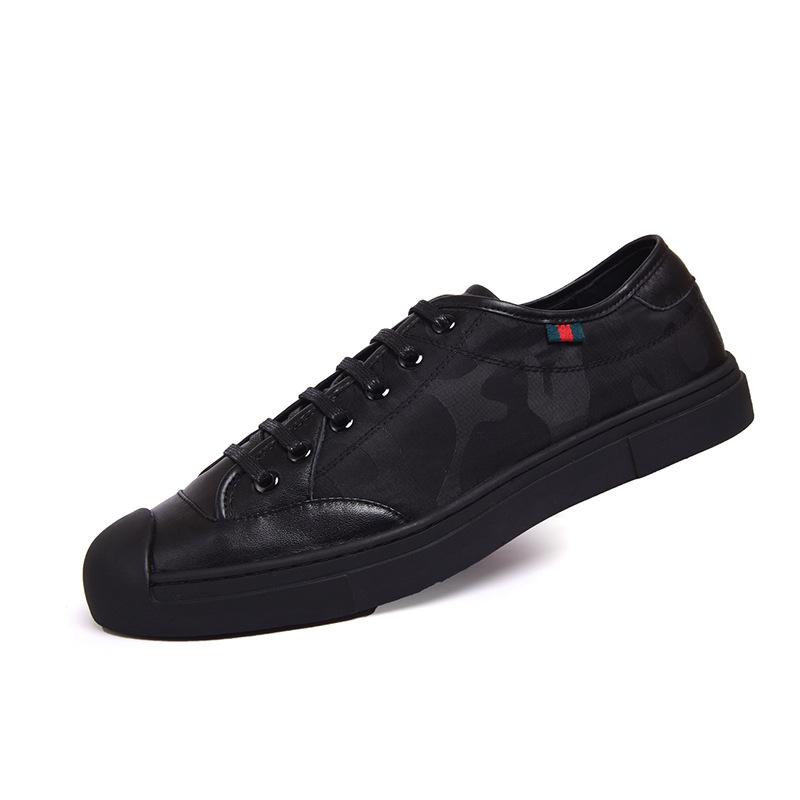 休闲运动鞋低帮贝壳头男鞋休闲鞋户外英伦系带跑步鞋广州鞋子批发