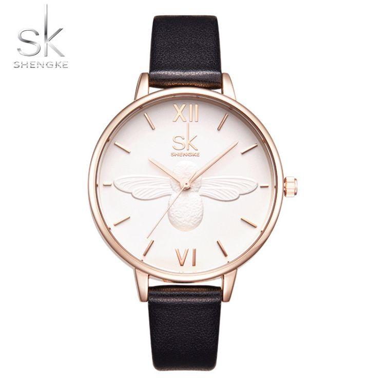SHENGKE胜刻时尚休闲创意蝴蝶背影外贸女款手表厂家直销K0055
