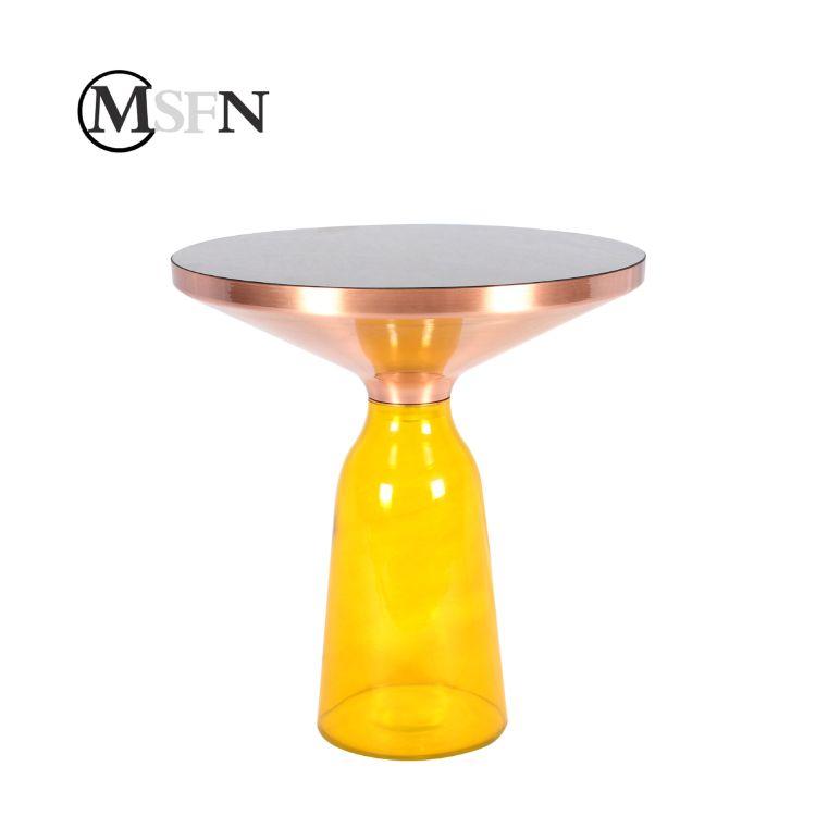 玛斯菲诺  Bell coffee table创意手工透明玻璃铃铛茶几时尚边几