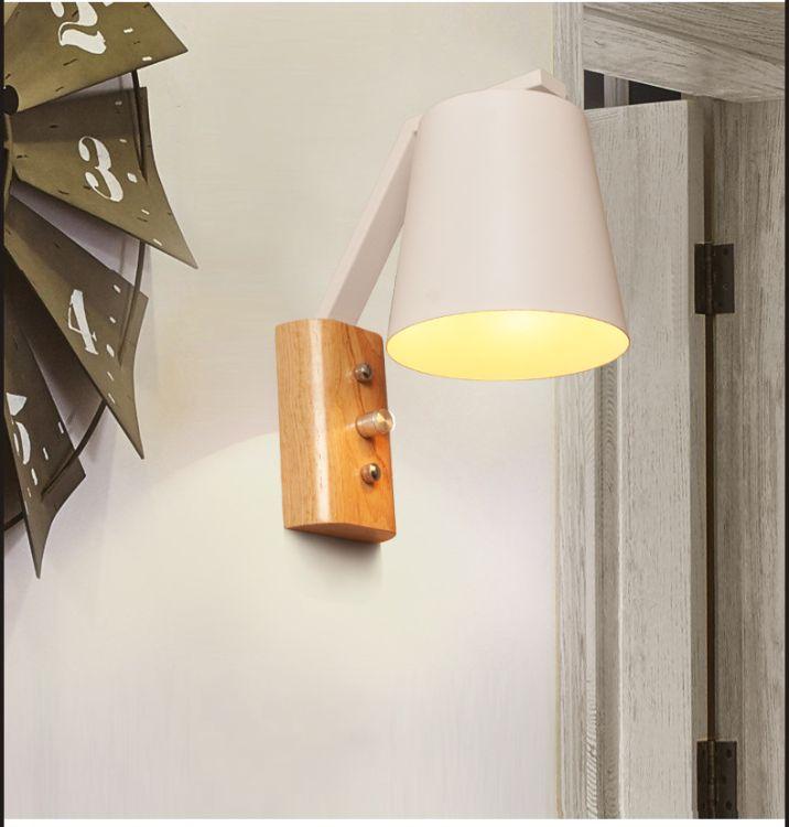 现代个性LED壁灯客厅壁灯木艺卧室床头灯铁艺服装店酒店装饰壁灯