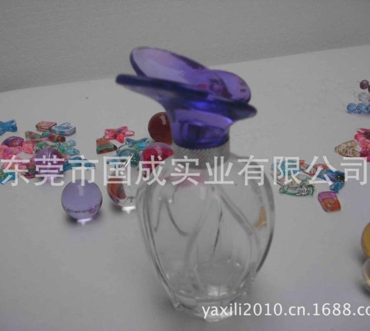 高级玻璃香水瓶玻璃瓶盖吹制晶白料玻璃瓶定做机器生产香水瓶