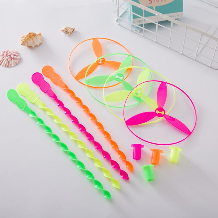 手推飞碟16.5cm飞天仙子 塑料竹蜻蜓多颜色可选质量保障