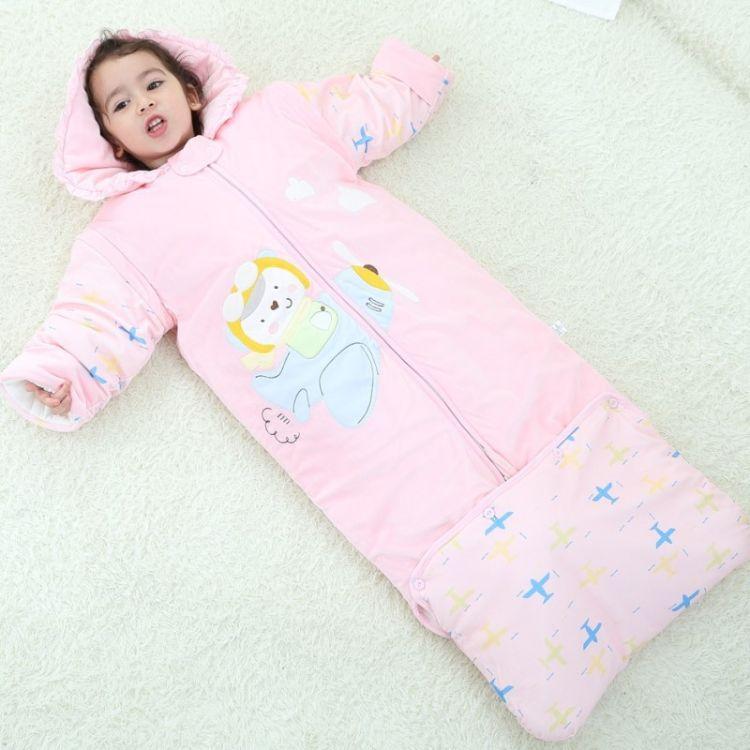 新款婴儿睡袋儿童睡袋宝宝防踢被纯棉婴幼儿防踢被宝宝睡袋