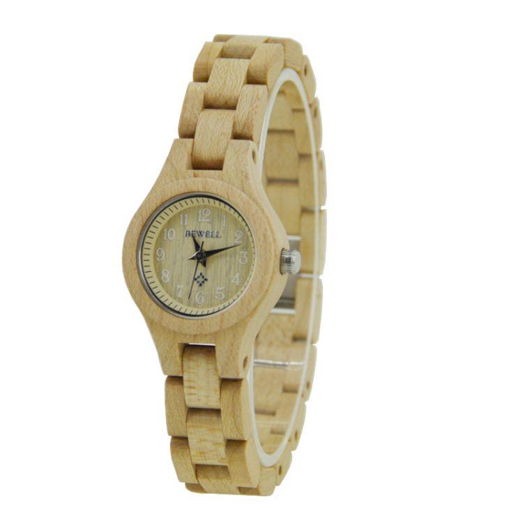 韩式bewell女款木质手表 木表厂家OEM批发定制 木头手表 檀木手表