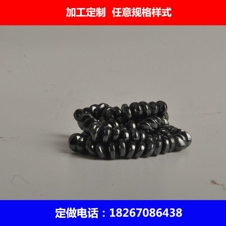 厂家直销永磁王黑色普磁铁氧体抛光面包磁 磁疗内裤发热普磁磁扣