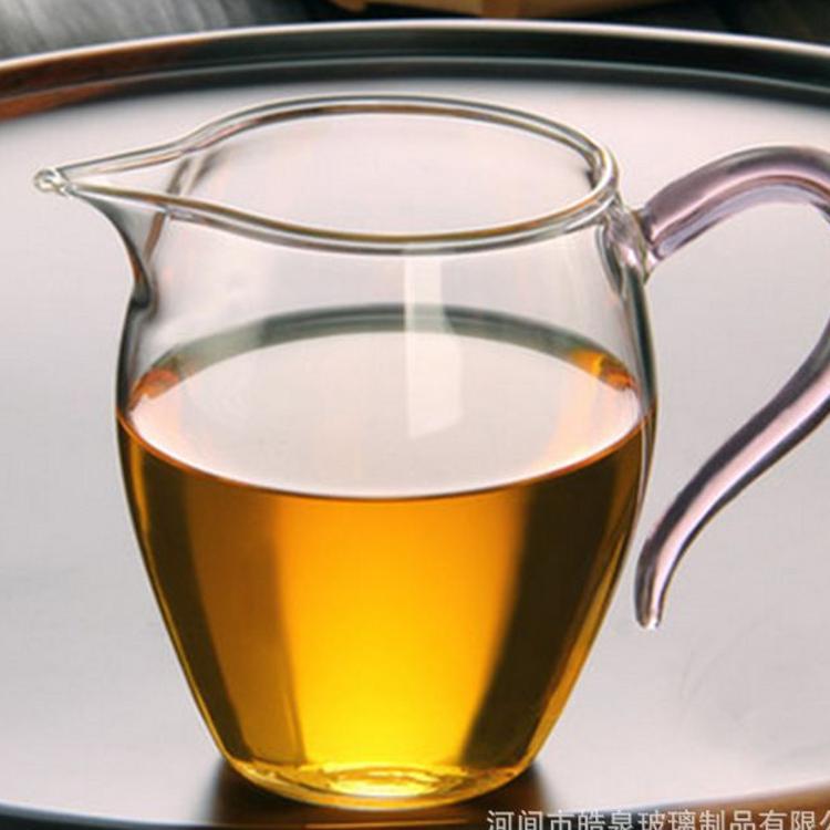 玻璃杯 无色透明玻璃耐热公道杯 加厚耐热玻璃公道杯 玻璃杯水杯