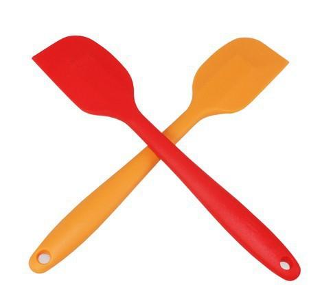 批发 FDA硅胶一体刮刀 颜色定制大号 蛋糕抹刀 烘焙工具 蛋糕工具