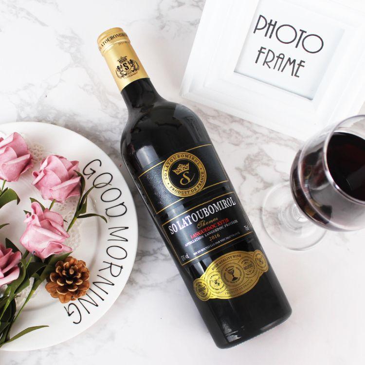 红酒 法国进口 法定产区DOC优质产区干红葡萄酒 一手货源