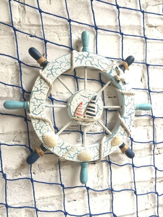 2018爆款地中海装饰船舵沙滩风餐厅挂件酒吧壁挂船舵壁挂货源批发