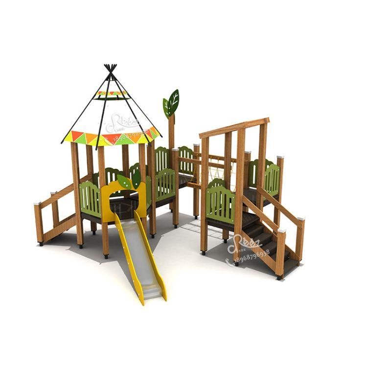 新款森林乐园组合滑梯 儿童幼儿园大型组合玩具 幼儿室外滑滑梯