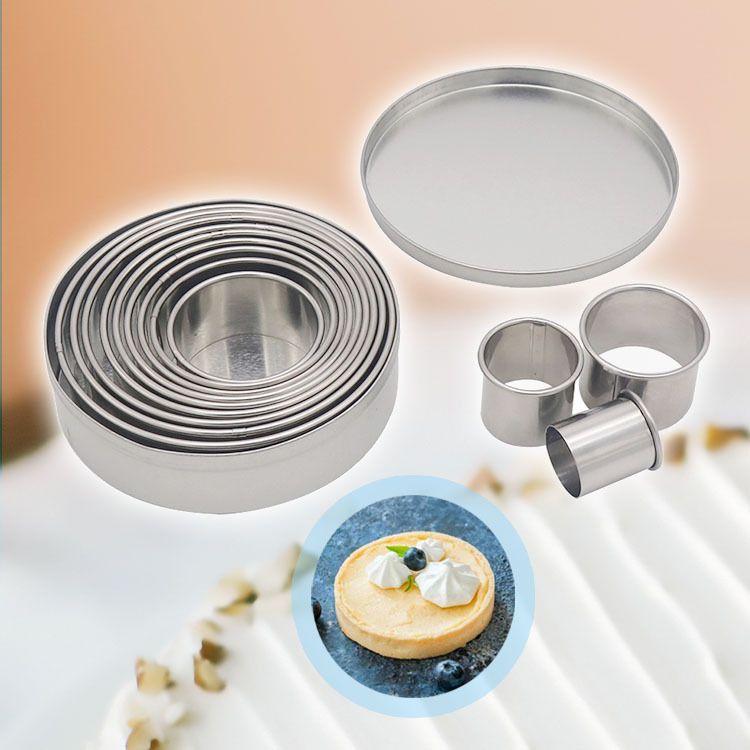 304不锈钢慕斯圈12件套 圆形蛋糕模 甜甜圈翻糖饼干模具烘焙工具