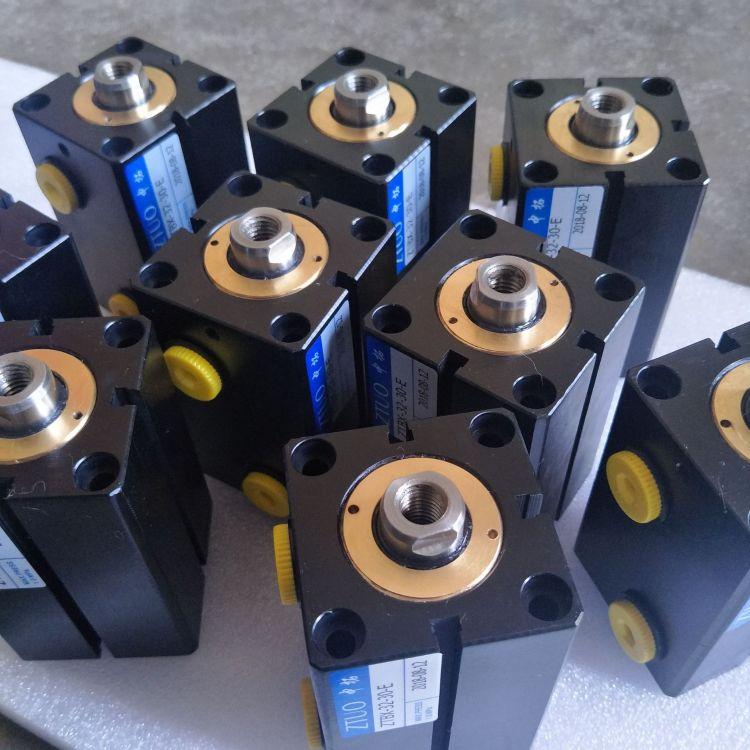 厂家直销航空铝材料薄型附磁油缸液压油缸模具薄型缸耐压14MPA