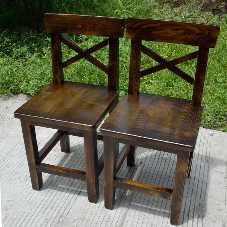 厂家直销实木餐桌椅餐椅休闲实木饭店餐椅定制批发
