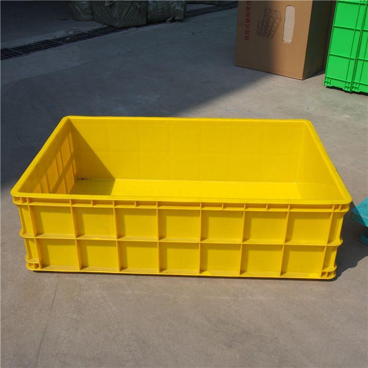 一米箱塑料周转箱 黄色特大1米周转箱 常州言木厂家直销塑料周转