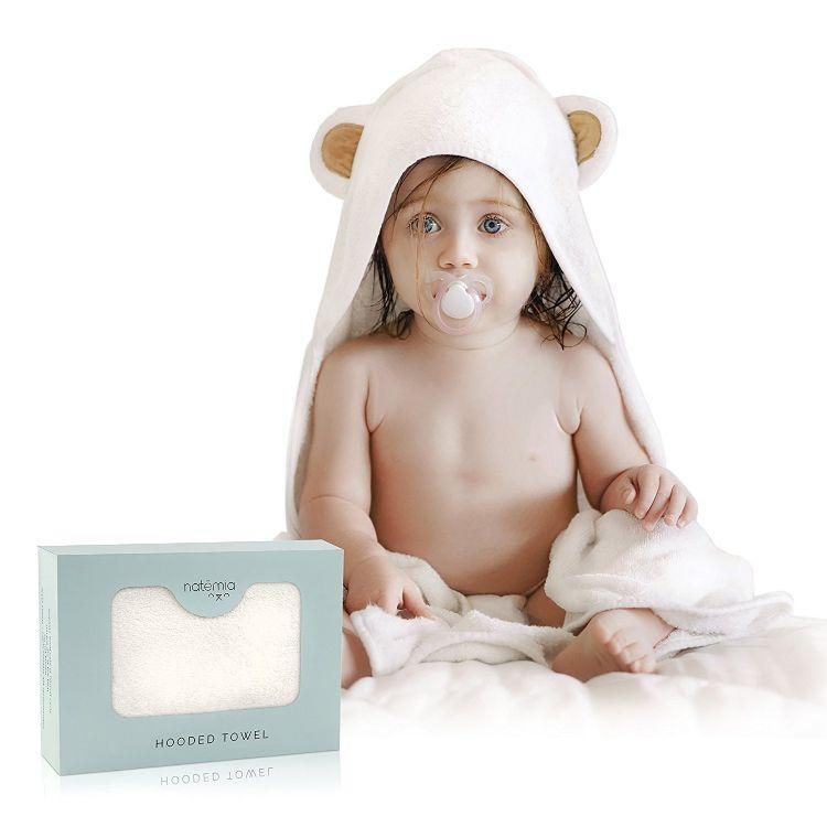婴幼儿竹纤维抱被连帽浴巾新生儿带耳朵抱毯宝宝包被款式多色订制