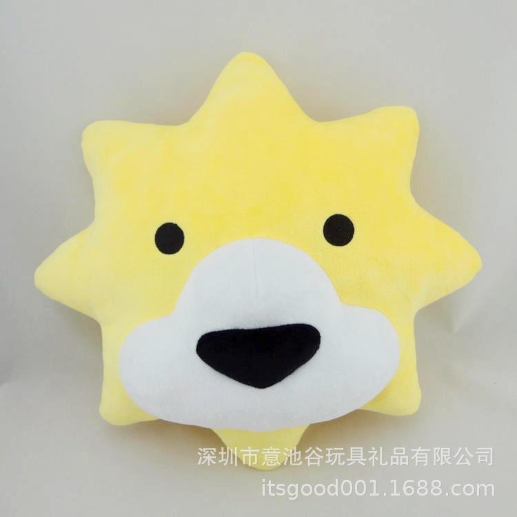 苏宁易购企业吉祥物 创意狮子抱枕 吉祥物定做 厂家来图来样定制