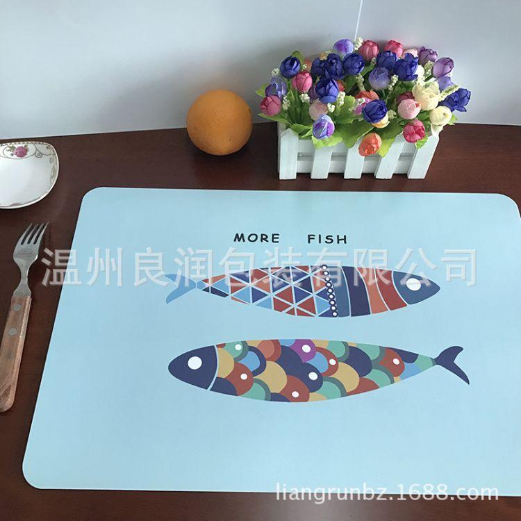 欧式防滑餐桌垫简约印花西餐垫家用PP塑料隔热垫碗垫防水耐热垫子