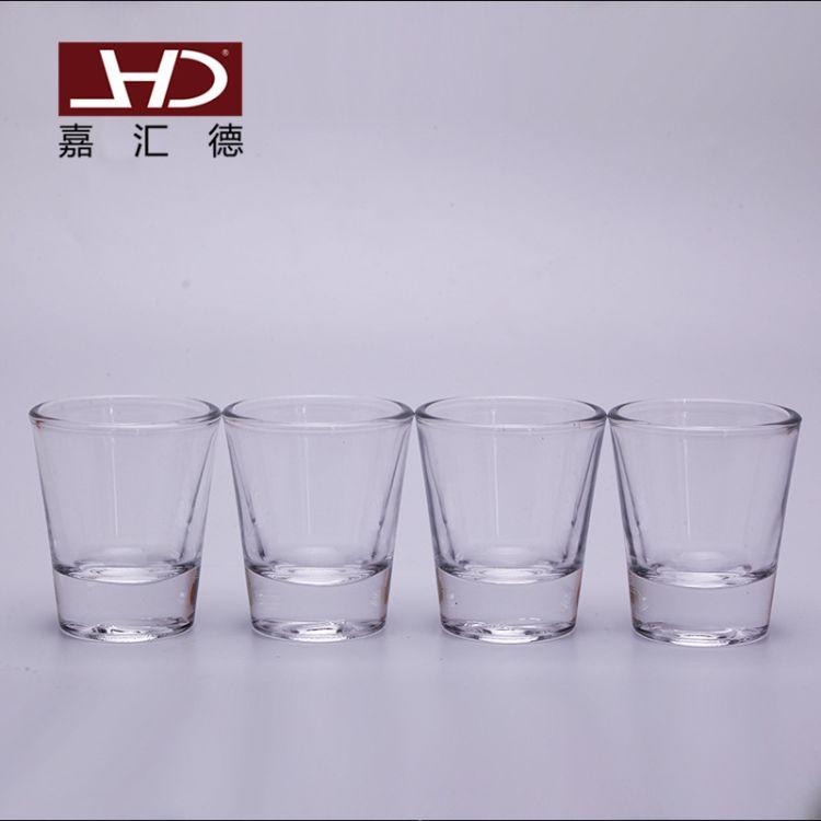 厂家批发隔热玻璃杯吞杯 小巧玻璃酒杯 店专用晶白玻璃烈酒杯子