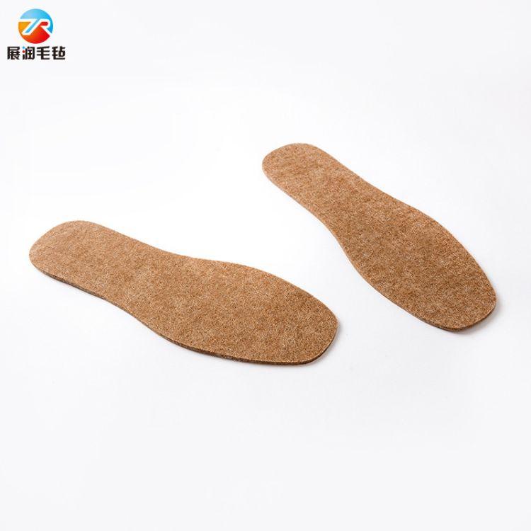 毛毡鞋垫 批量生产冬季加厚保暖鞋垫 吸汗全家通用毛毡鞋垫