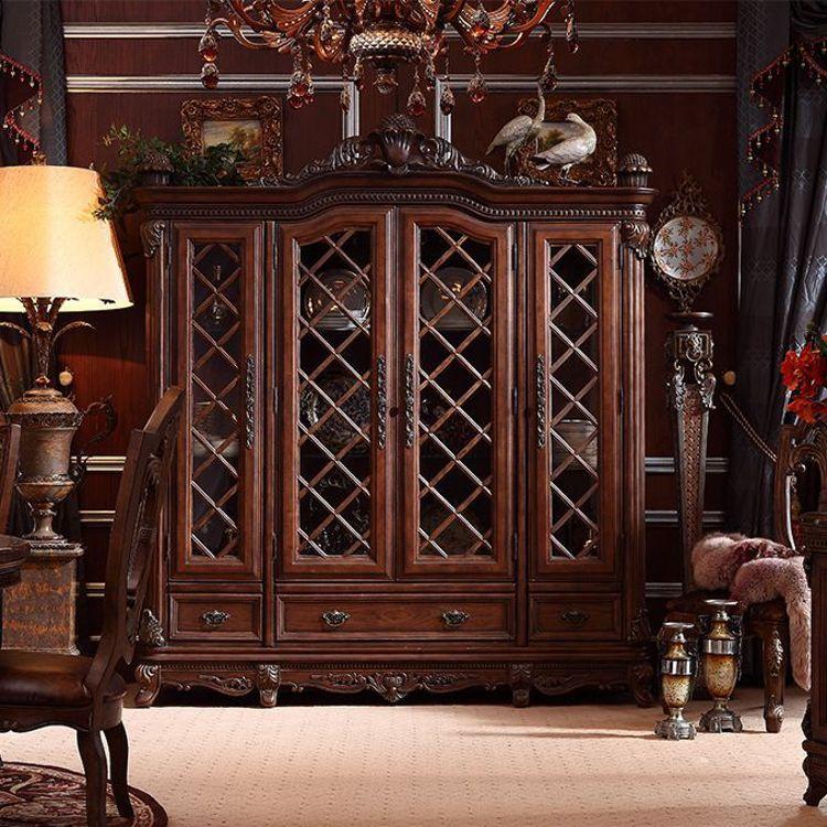 欧式储藏餐厅边柜 古装饰柜 餐边柜 餐厅家具定制 美式乡村桦木酒