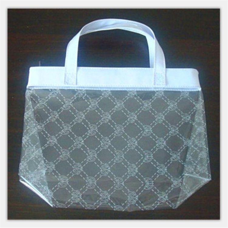 定制满版丝印PVC手提袋 30丝环保PVC日用品包装袋 电压塑料礼品袋