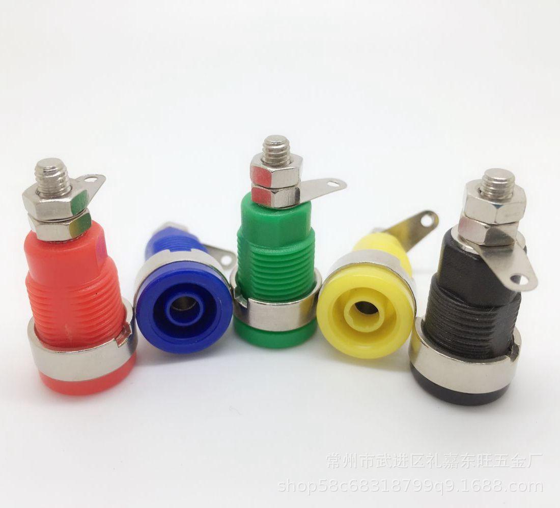直销音箱接线柱  安全型香蕉插座 4MM螺丝安全型面板插座