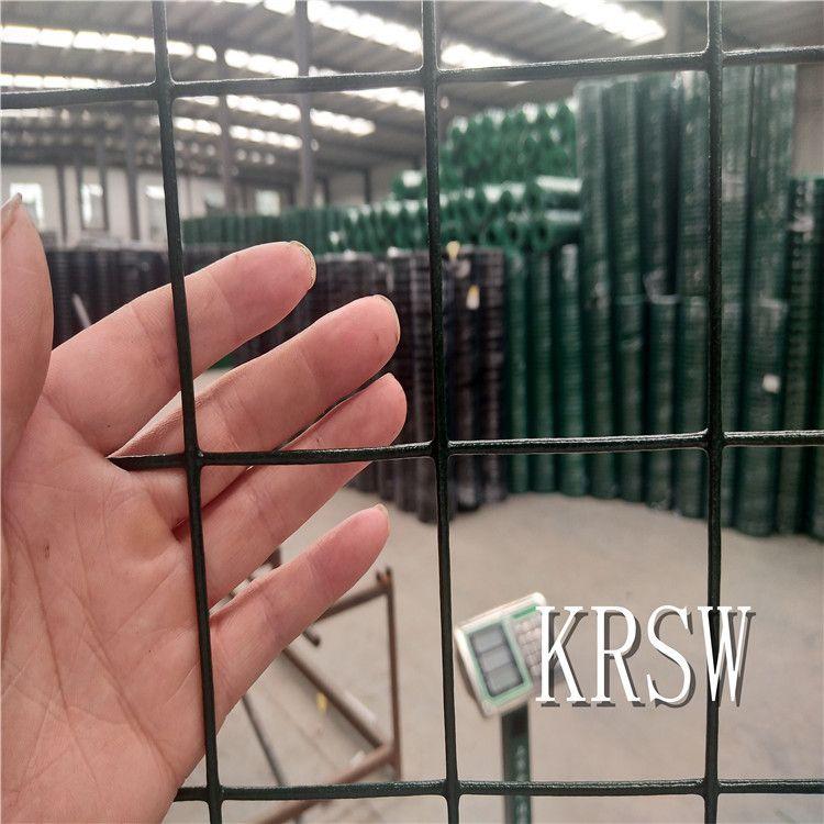 厂家铁丝荷兰网围栏现货包邮PVC涂塑园艺种植养殖防护绿色隔离网