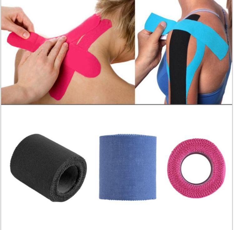 4色锯齿形全棉运动胶带 手腕肘保护棉布胶带 运动胶带 5cm*5m