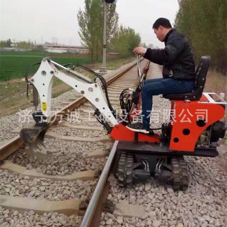 铁路清渣挖石小型挖掘机 市政修路电缆开沟小微型挖掘机