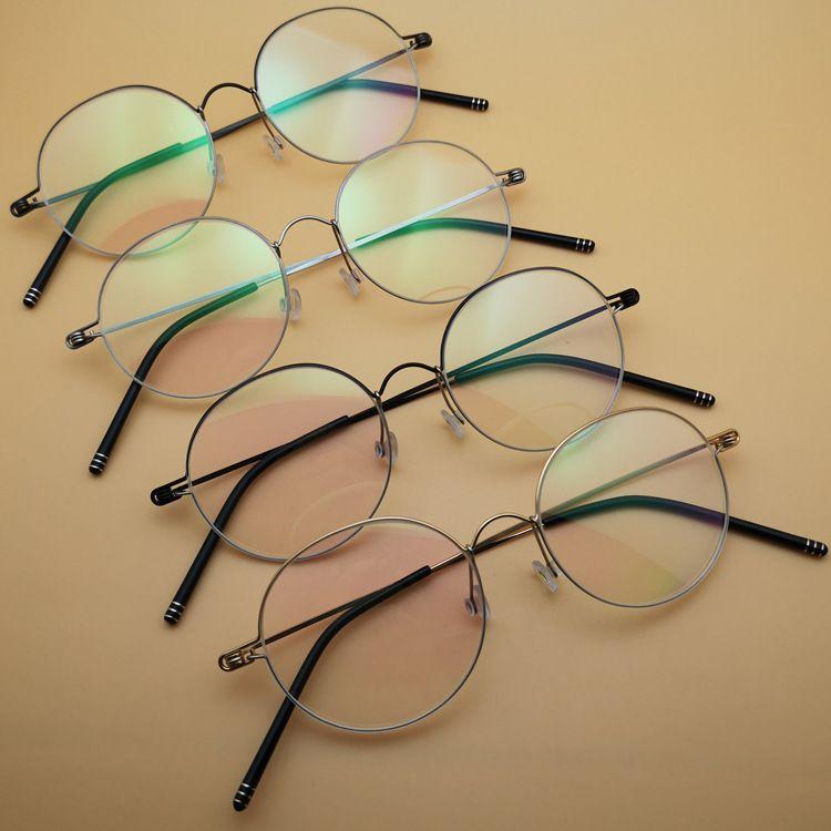 2018新款超輕細近視眼鏡框丹麥皇室鈦合金手工復古圓形個性眼鏡架