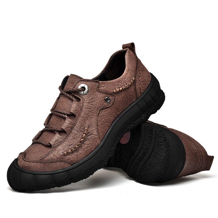 秋季新款户外休闲男鞋时尚运动鞋子男休闲皮鞋百搭软底旅游登山鞋