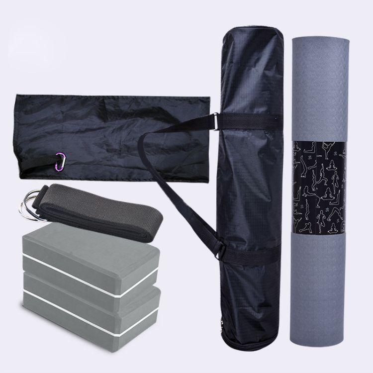 山联工厂直销瑜伽垫瑜伽砖拉伸带四件套瑜伽套装