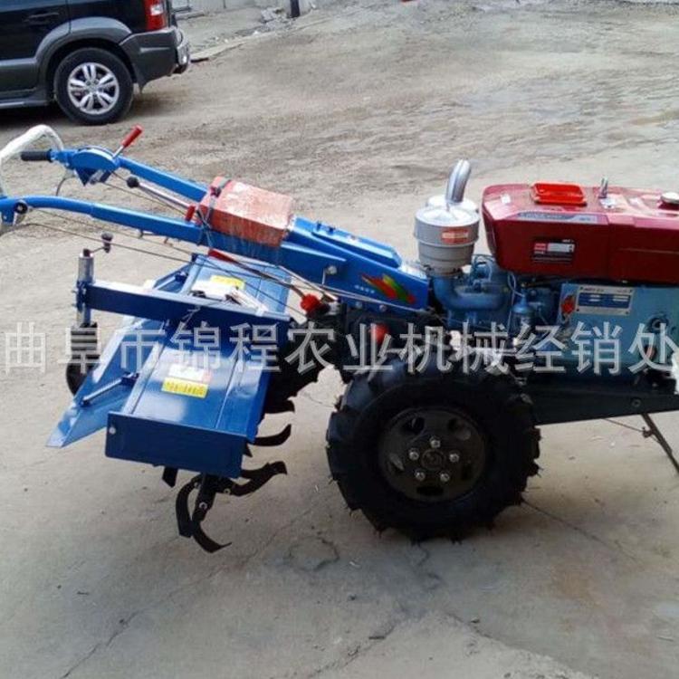 手扶拖拉机带旋耕机 家用手扶旋耕机 12马力拖拉机耕田机