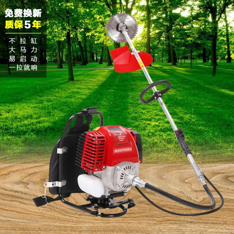 新款四冲程背负式割草机汽油打除草打草小型收割园林草坪割灌机厂