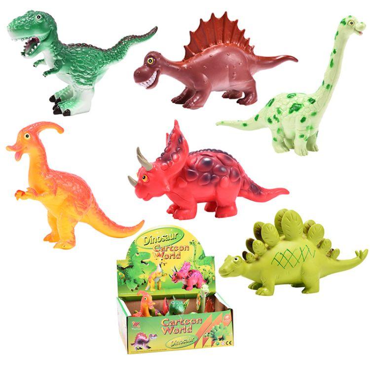 跨境侏罗纪仿真恐龙模型玩具卡通霸王龙剑龙恐龙玩具儿童益智玩具