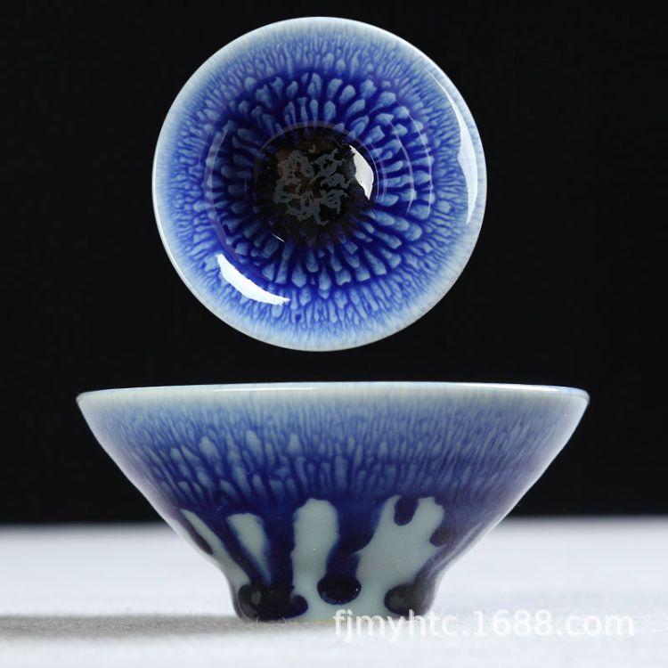 供应陶瓷茶碗 日式窑变茶具单杯主人杯商务礼品杯定制logo