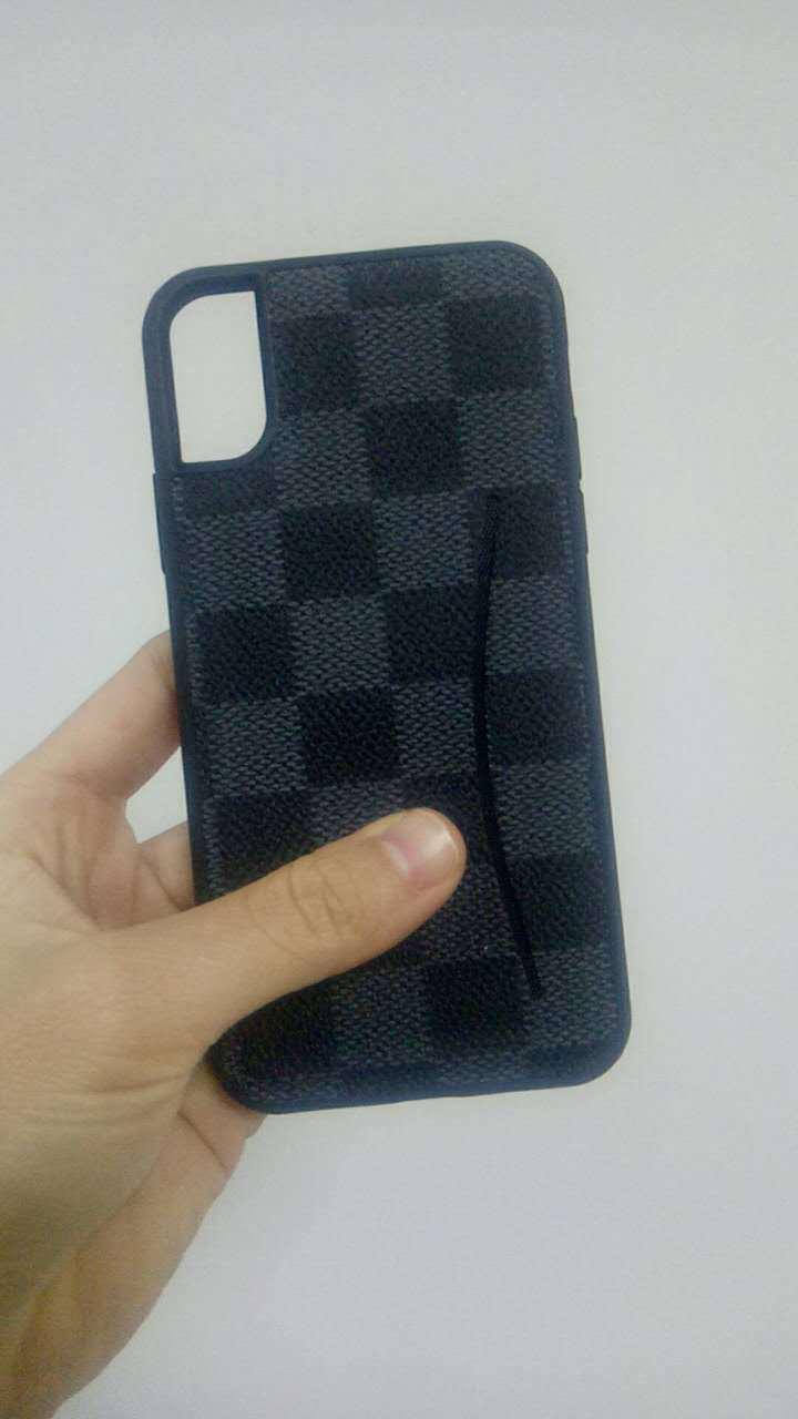 iPhoneX手机壳 苹果PU手机皮套 格子纹插卡贴皮套 iphone8手机套