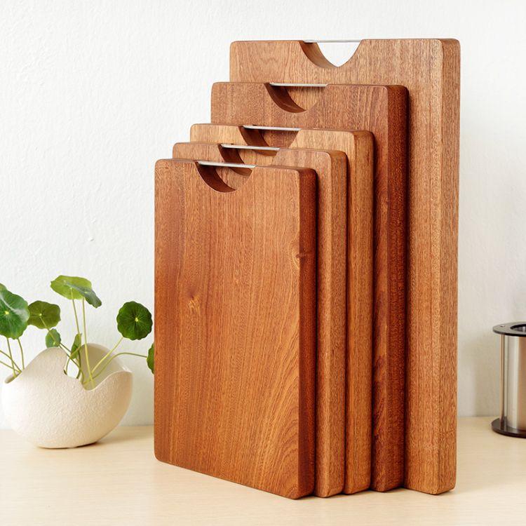 菜板砧板切菜板案板实木乌檀木菜墩木质厨具厨房用具长方型加厚