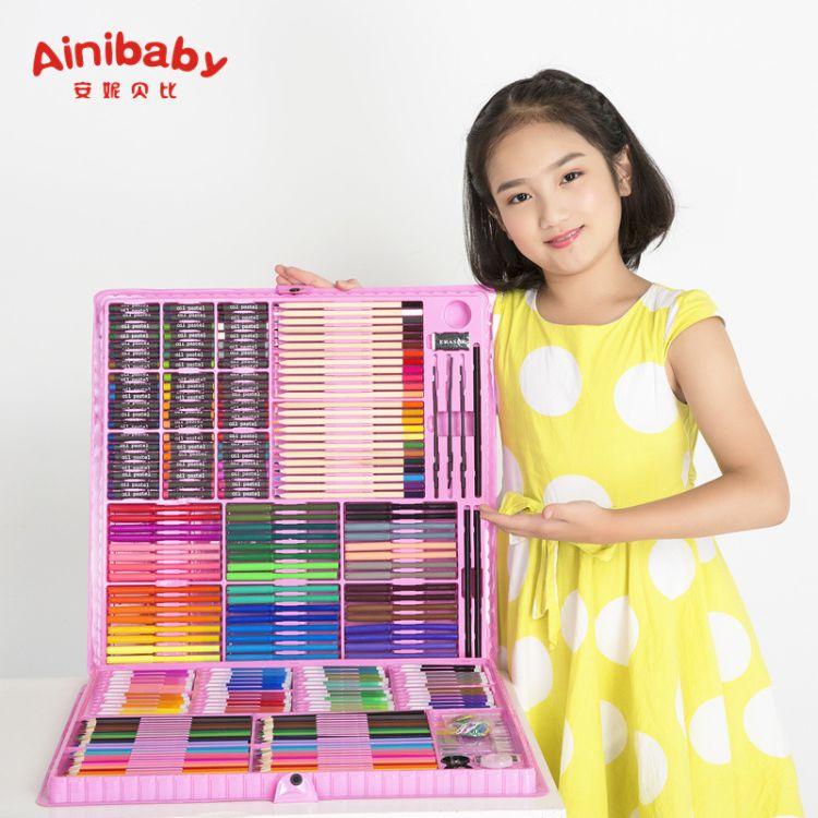 水彩笔画画笔套装 儿童绘画笔学生可水洗彩笔幼儿园涂鸦厂家批发